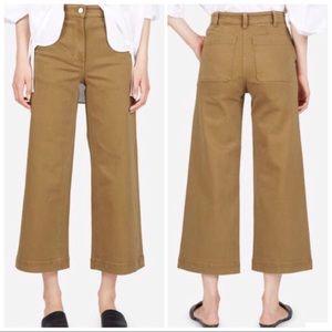 Everlane Wide Leg Crop Pants Ochre Size 16